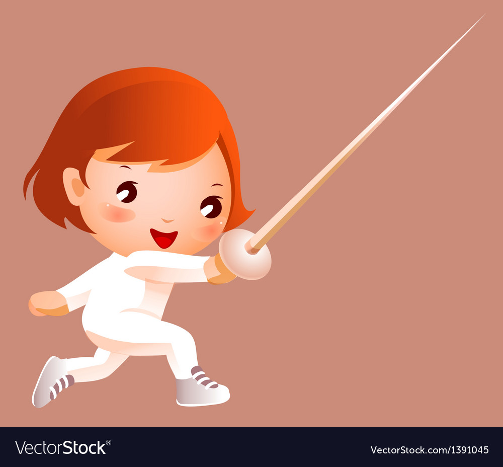 Girl in fencing costume vector | Price: 3 Credit (USD $3)