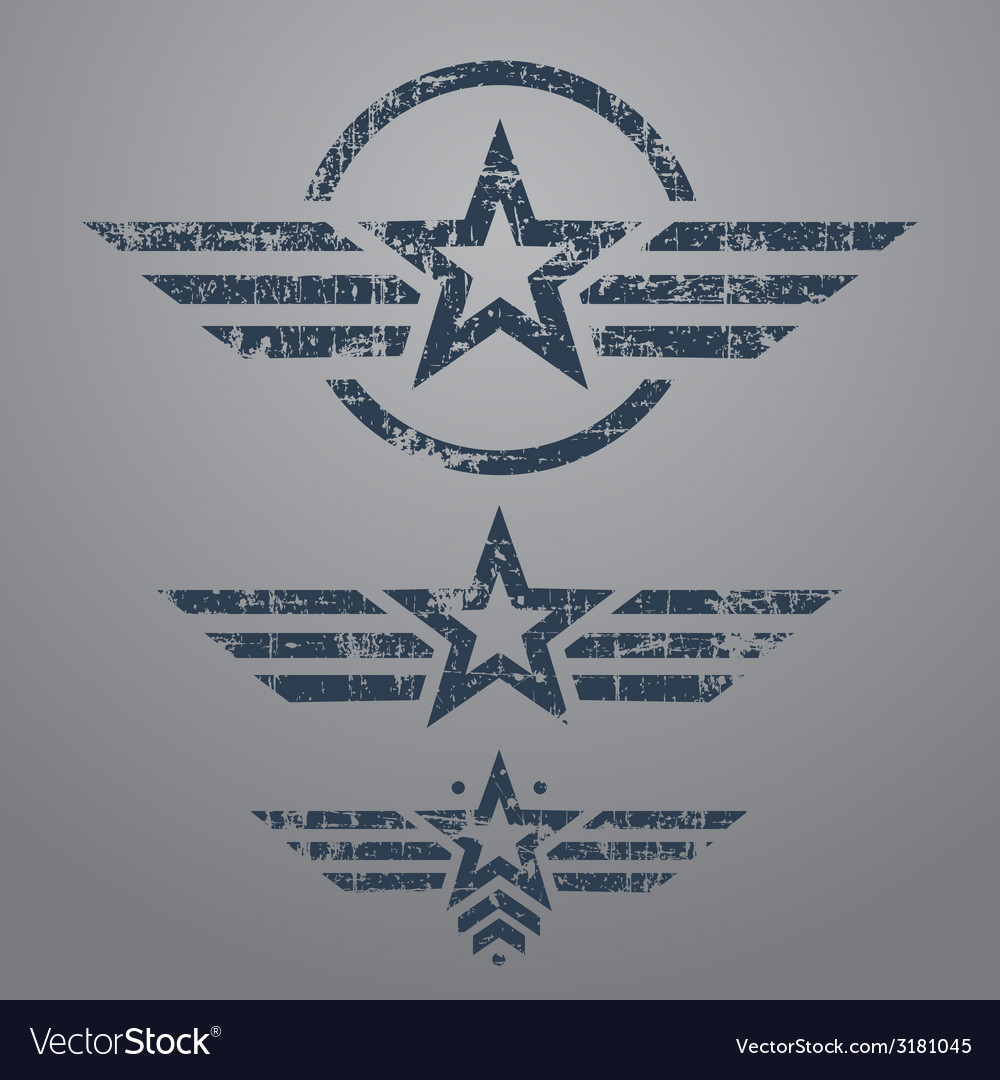Military style emblem set vector | Price: 1 Credit (USD $1)