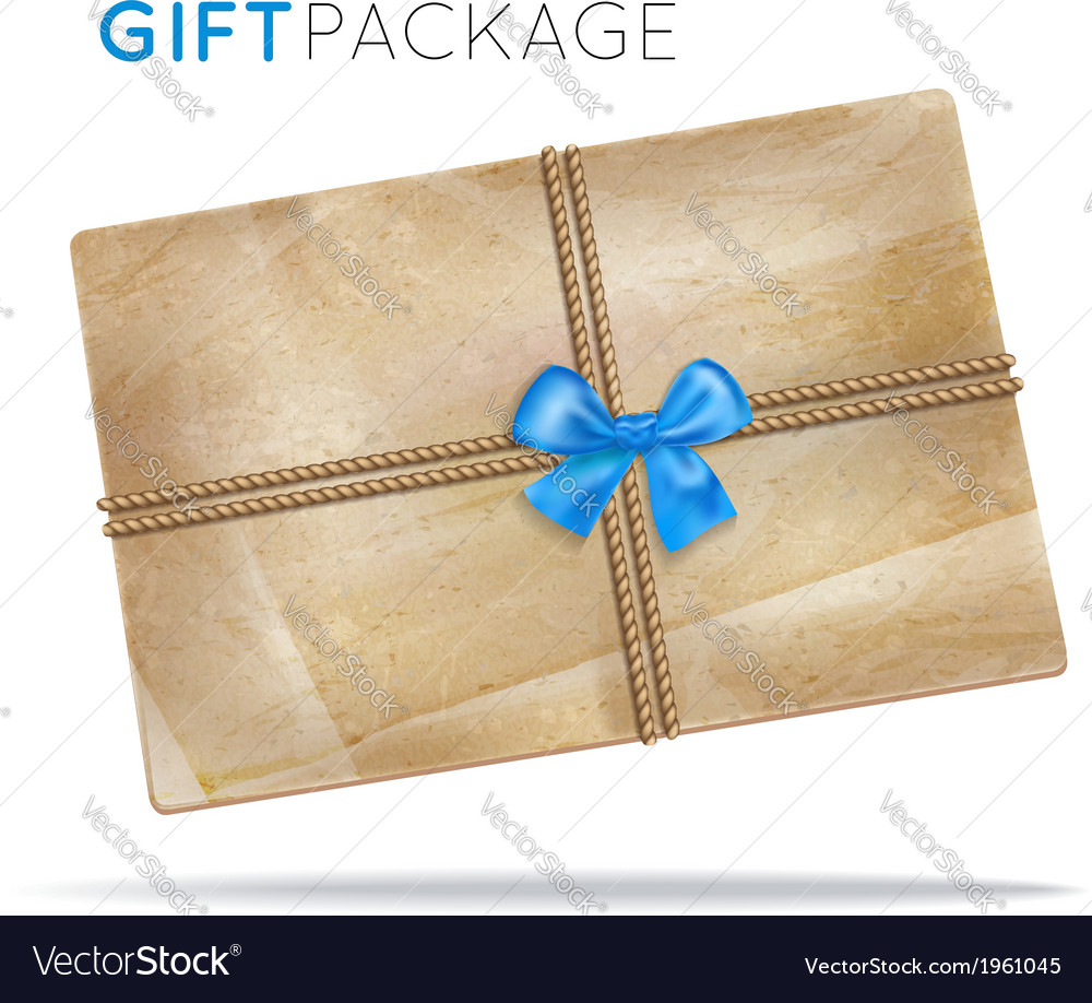 Paper package with a bow vector | Price: 1 Credit (USD $1)