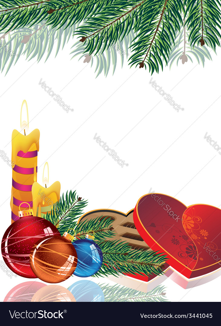 Romantic christmas background vector | Price: 3 Credit (USD $3)