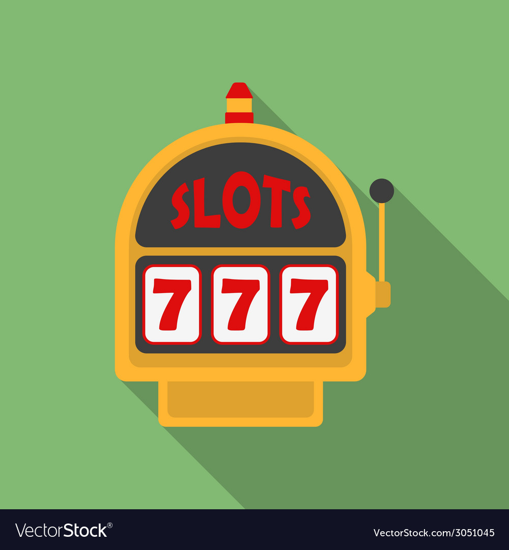 Slot machine icon modern flat style with a long vector | Price: 1 Credit (USD $1)