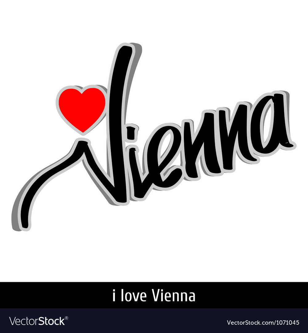 Vienna greetings hand lettering calligraphy vector | Price: 1 Credit (USD $1)