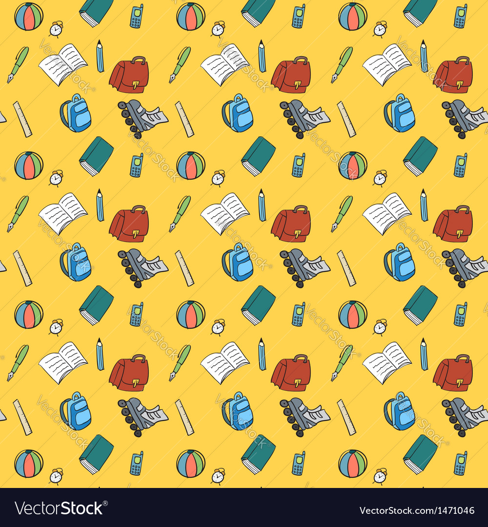Colorful textile school pattern vector | Price: 1 Credit (USD $1)