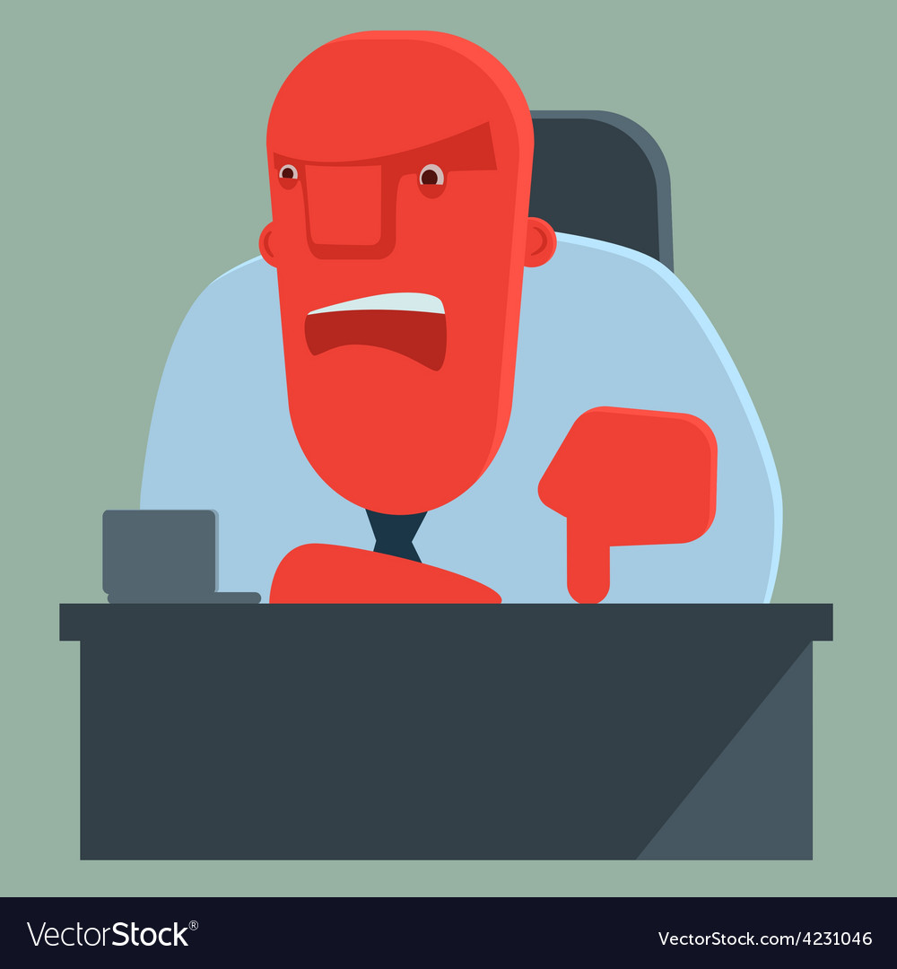 Dissatisfied boss warns someone vector | Price: 3 Credit (USD $3)