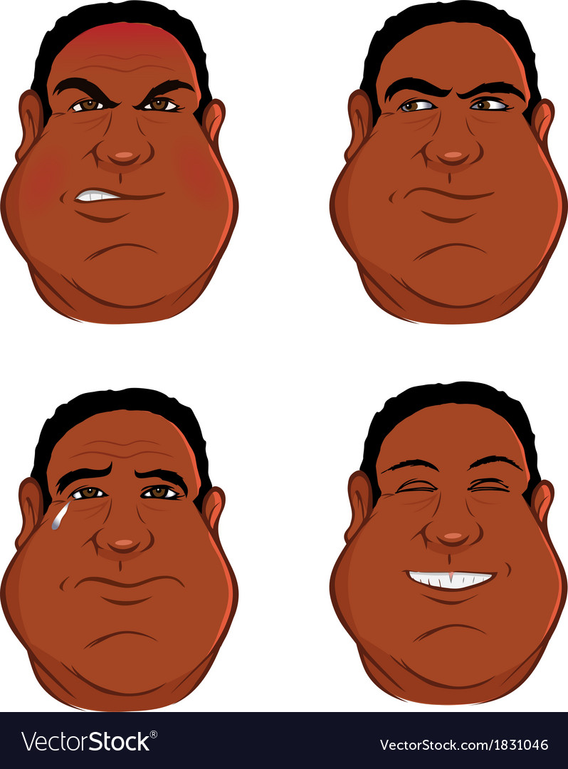 Expressions black male vector | Price: 1 Credit (USD $1)