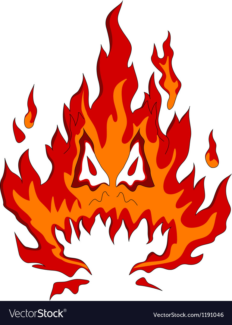 Fire monster vector | Price: 1 Credit (USD $1)