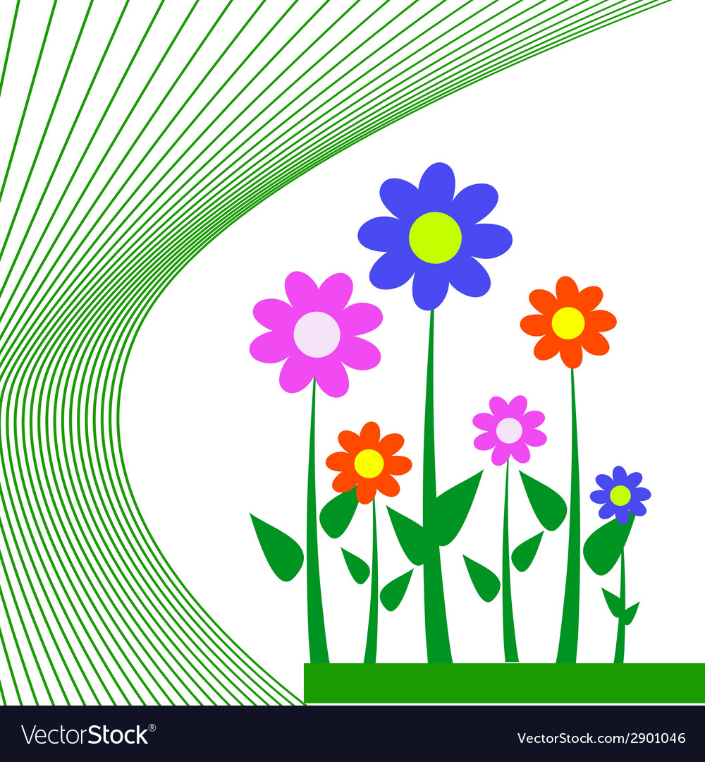 Flower for background vector | Price: 1 Credit (USD $1)