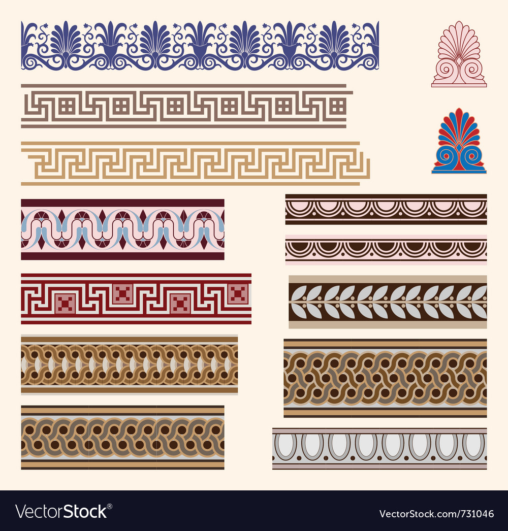 Greek border ornaments vector | Price: 1 Credit (USD $1)