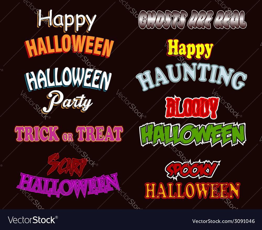 Halloween text styles vector | Price: 1 Credit (USD $1)
