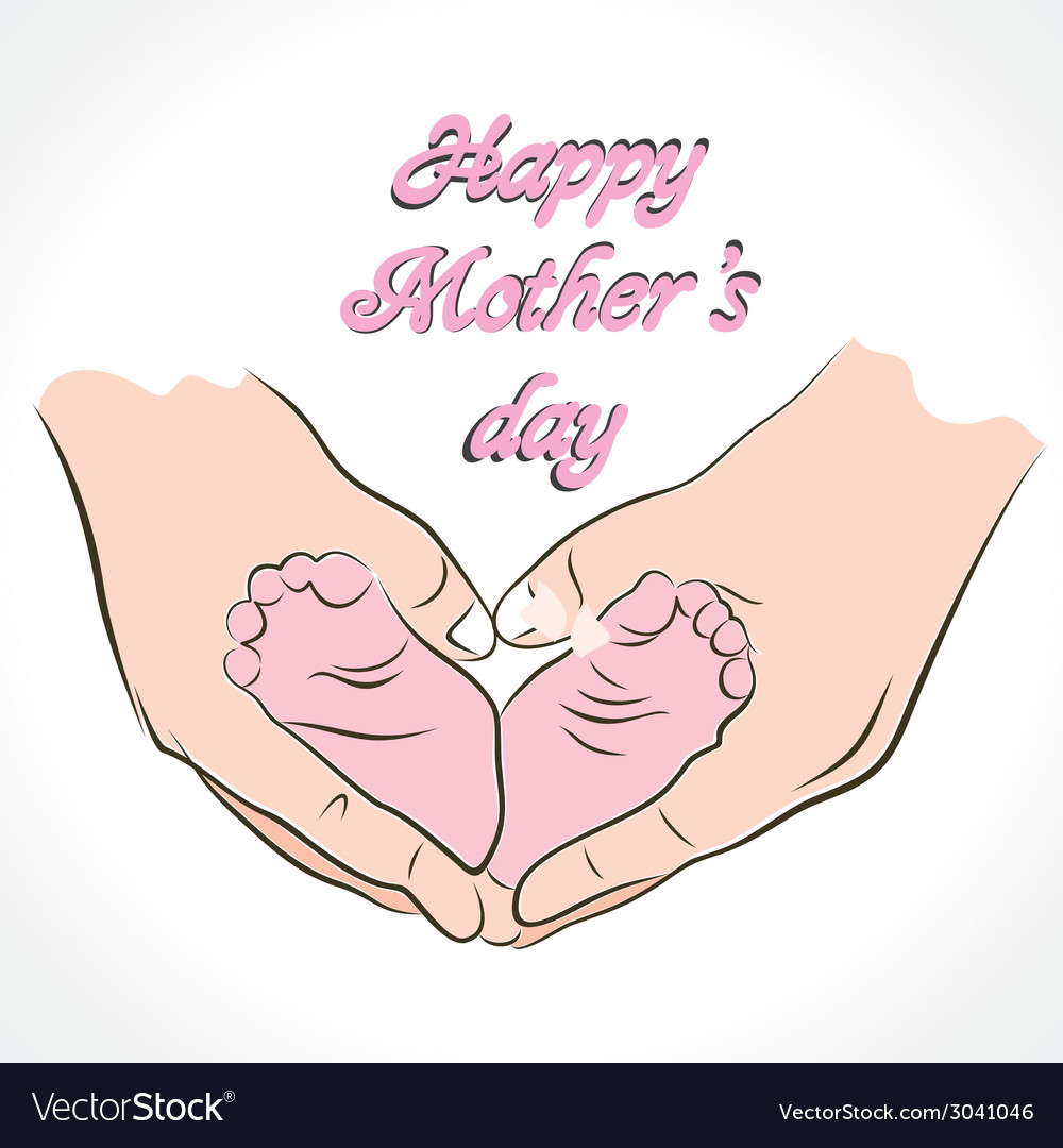 Happy mothers day greeting background vector | Price: 1 Credit (USD $1)