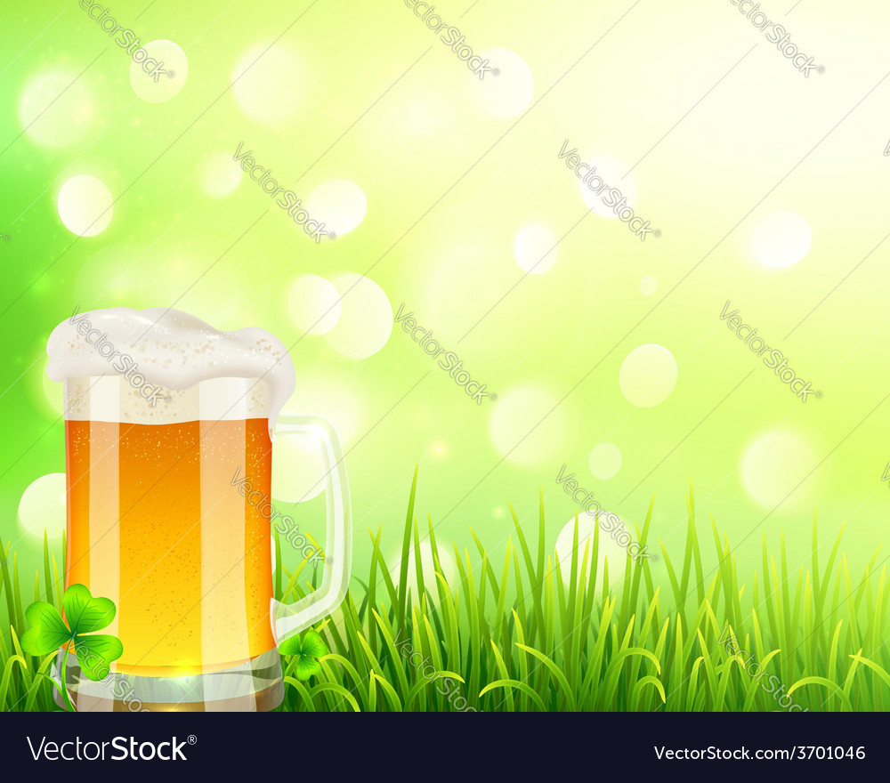 Pint of beer on bokeh light background vector | Price: 3 Credit (USD $3)