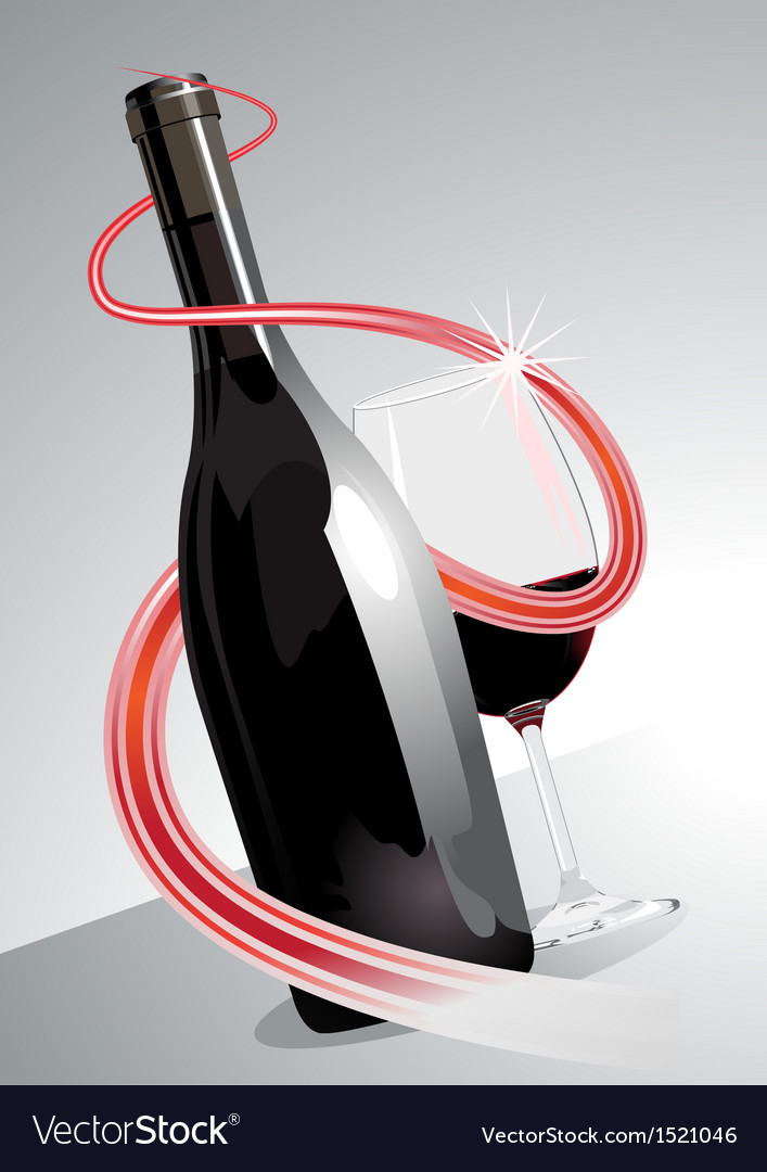 Premium or superior red wine vector | Price: 1 Credit (USD $1)