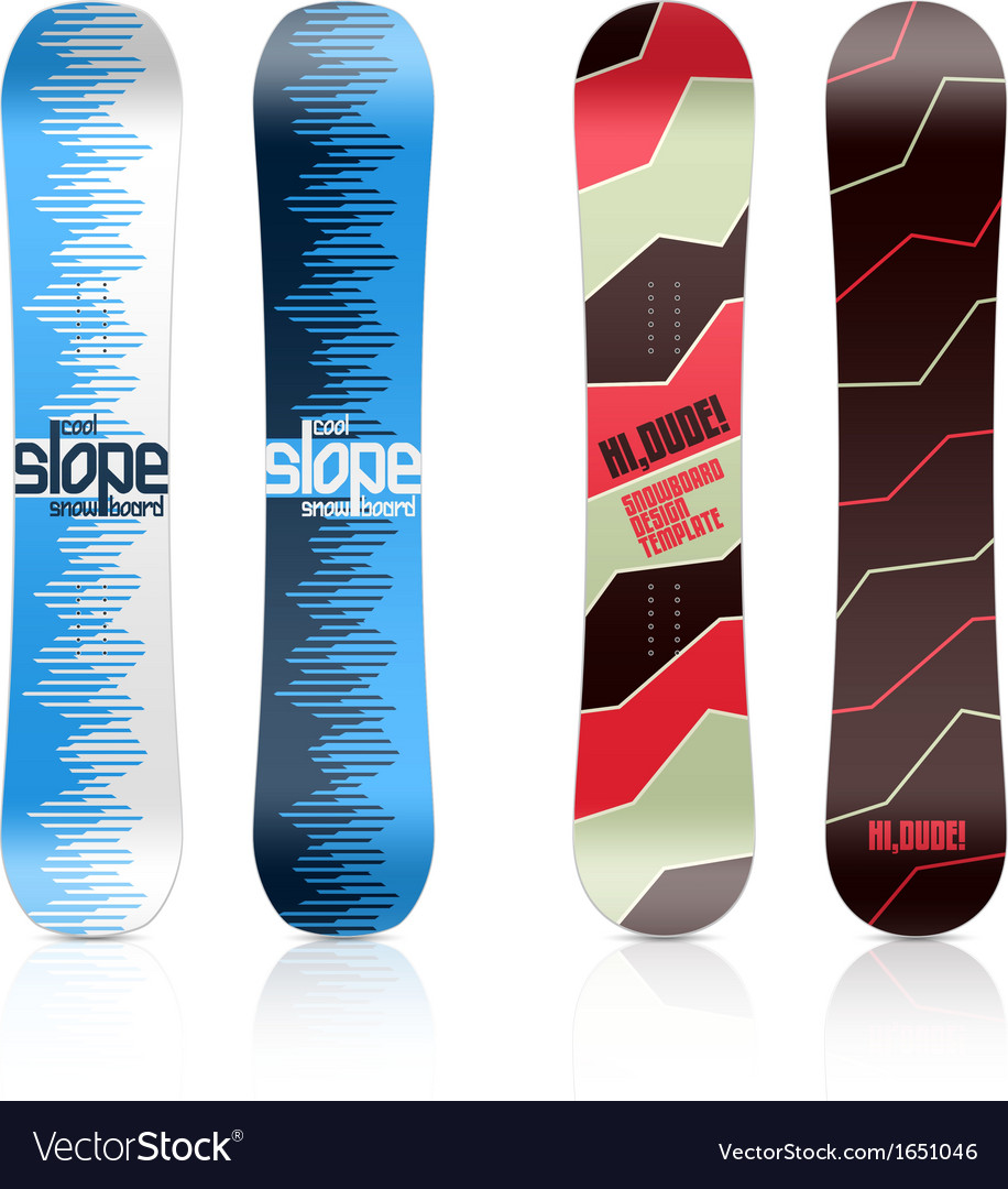 Snowboard design vector | Price: 1 Credit (USD $1)