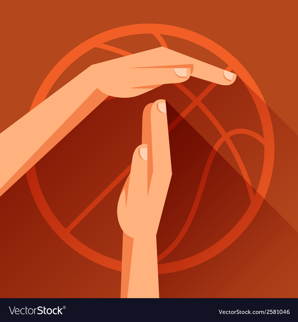 Sports with basketball gesture sign timeout vector | Price: 1 Credit (USD $1)
