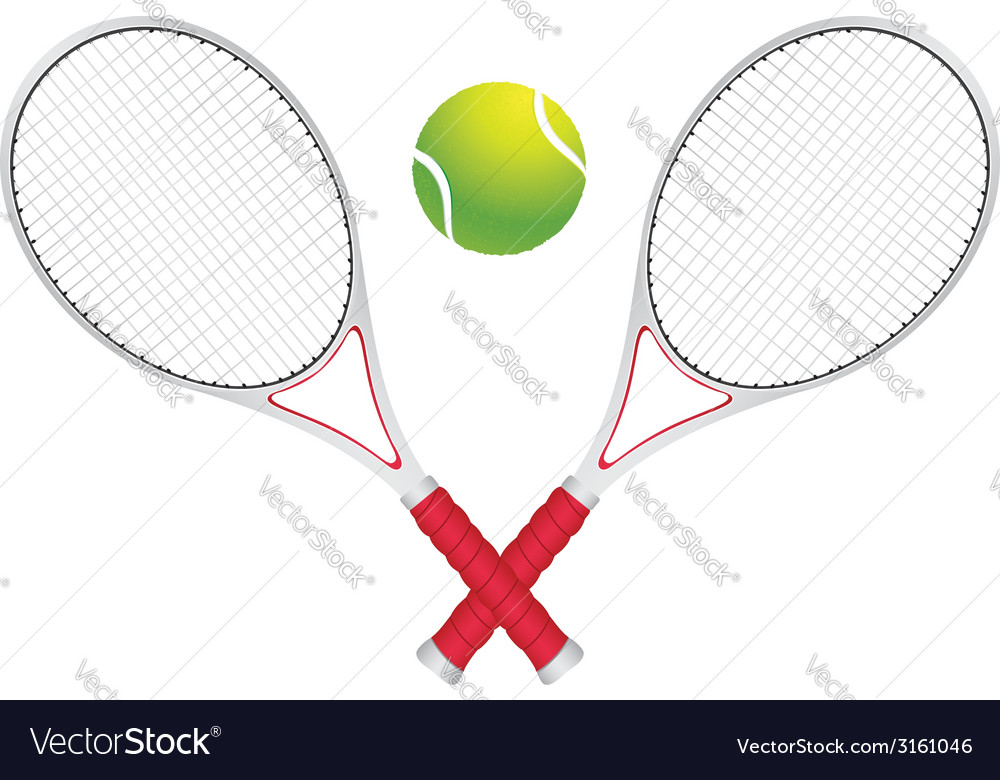 Tennis ball and racket2 vector | Price: 1 Credit (USD $1)