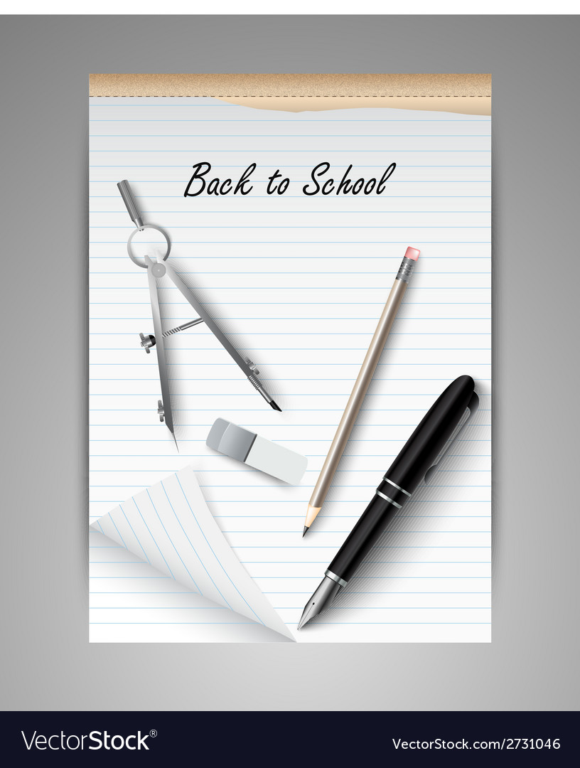Welcome back to school background vector | Price: 1 Credit (USD $1)