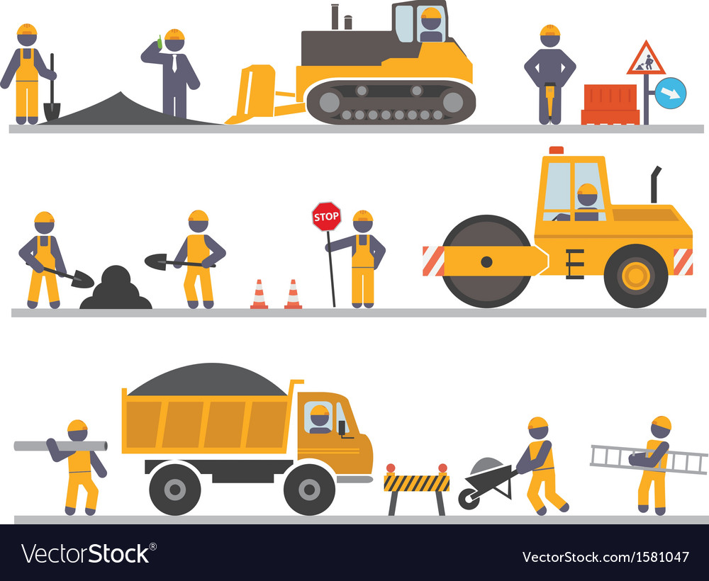 Construction workers vector | Price: 1 Credit (USD $1)