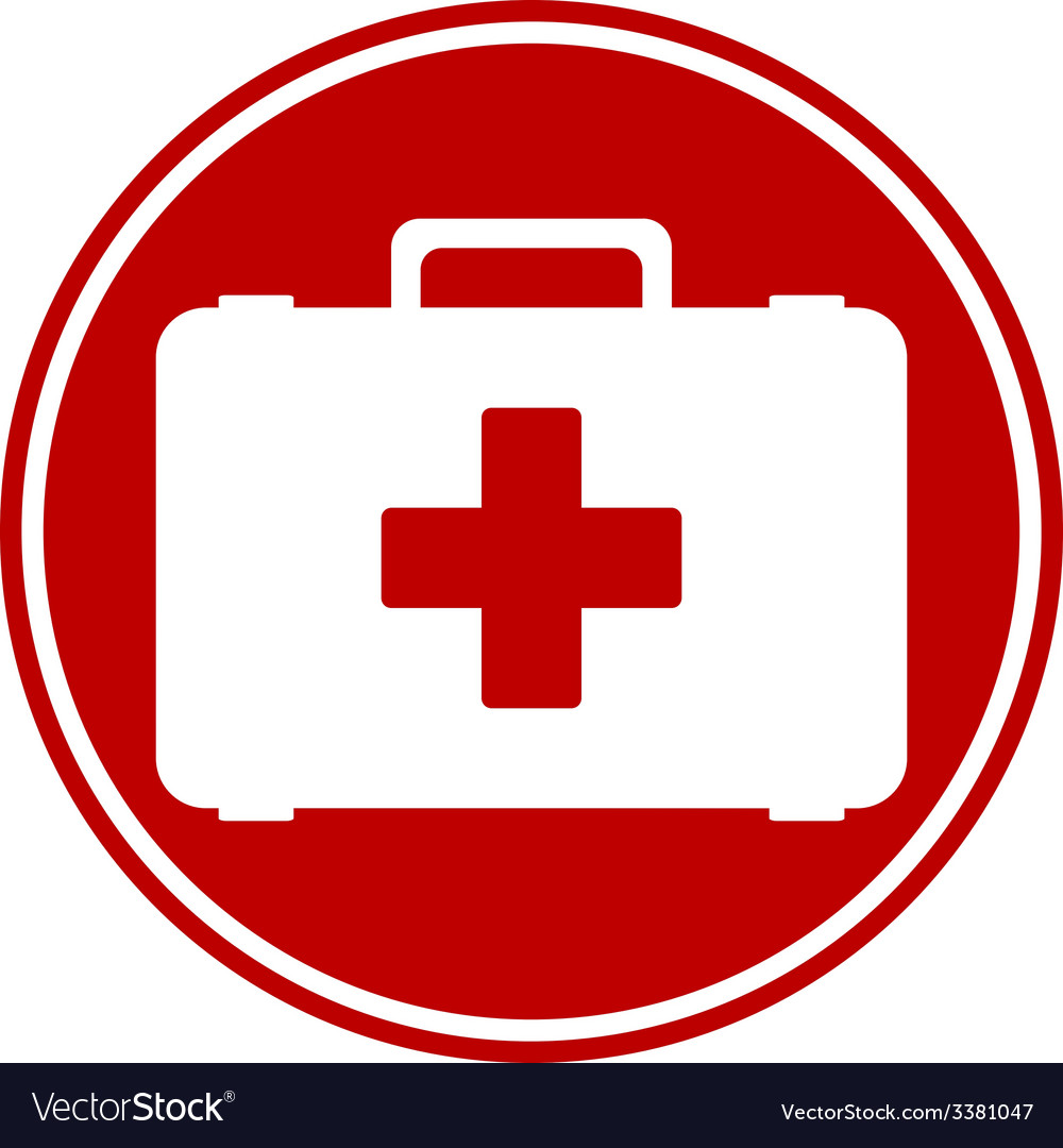 First aid button vector | Price: 1 Credit (USD $1)