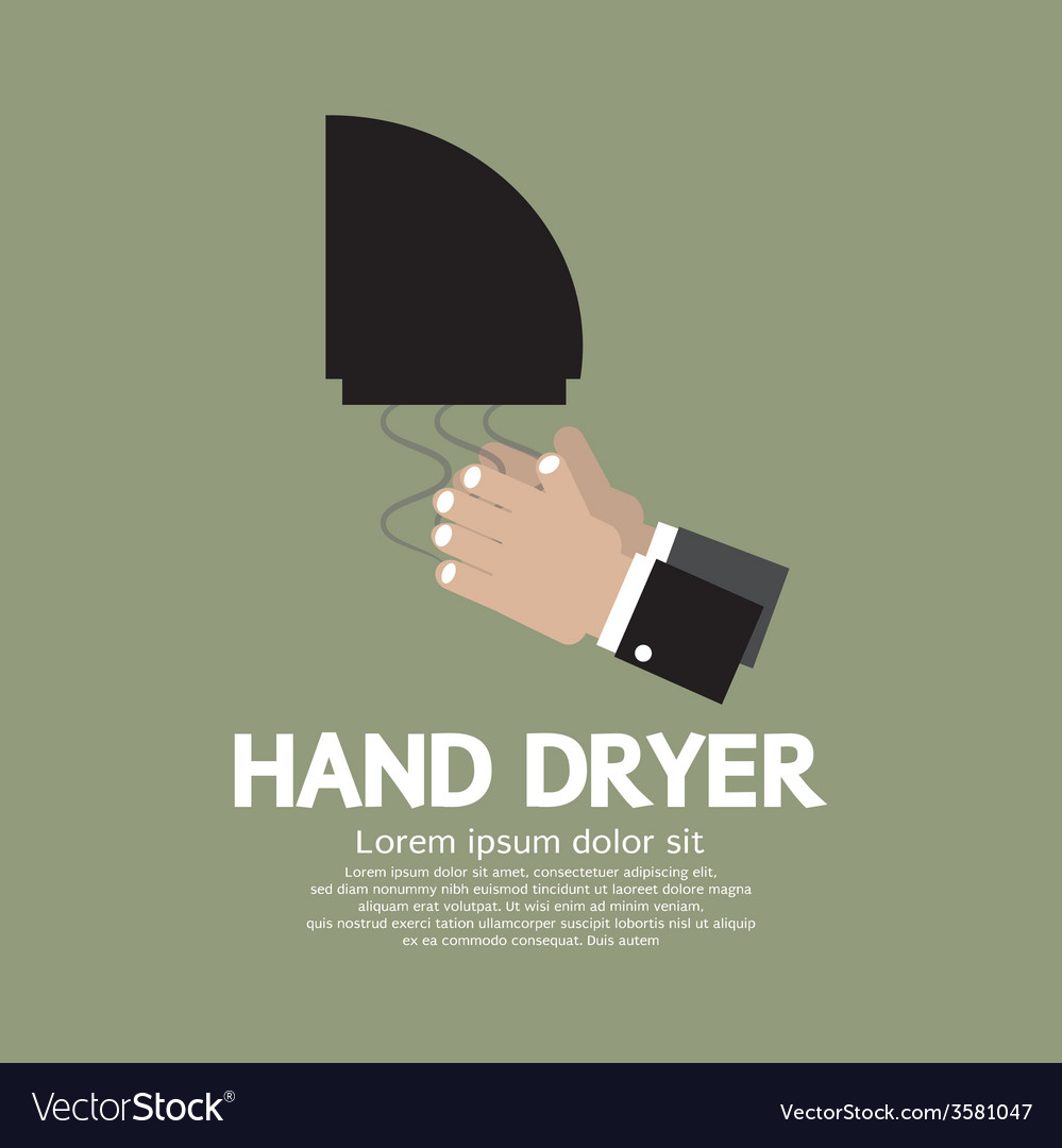 Hand dryer in public toilet vector | Price: 1 Credit (USD $1)