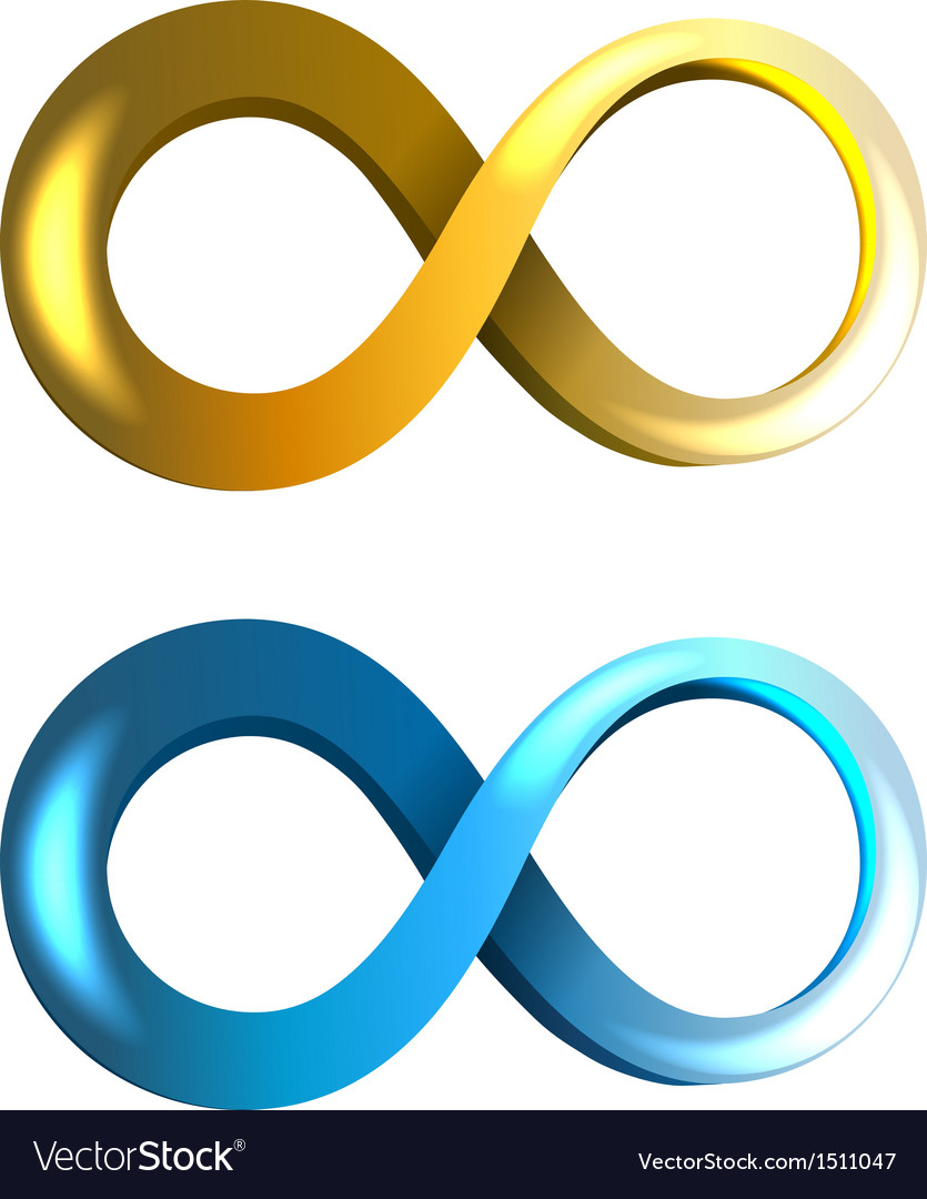 Infinity icons vector | Price: 1 Credit (USD $1)