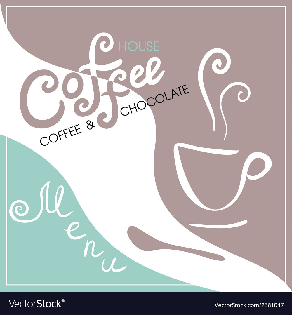 Menu cover for cafe bar coffeehouse vector | Price: 1 Credit (USD $1)