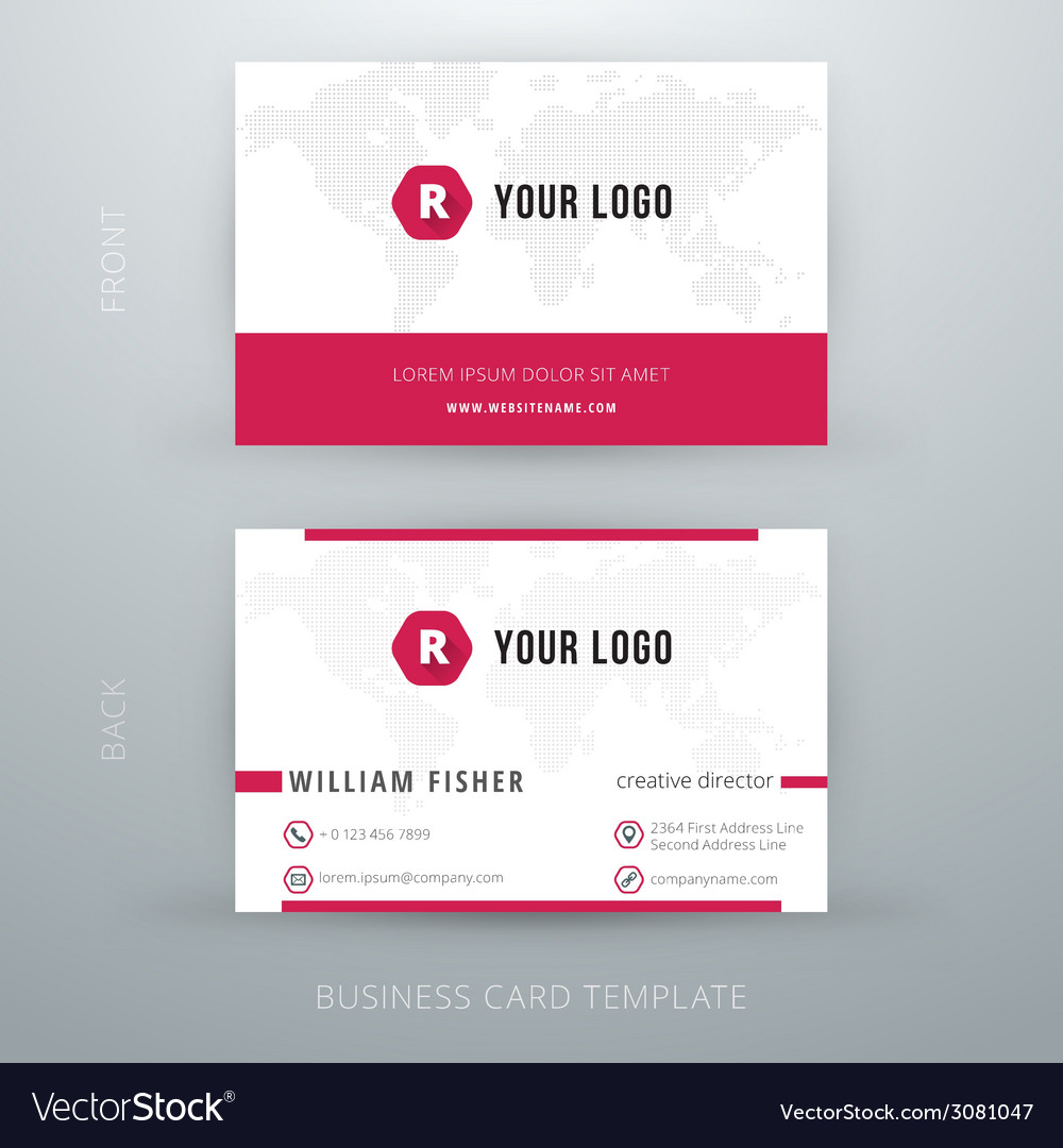 Modern simple business card template vector   Price: 1 Credit (USD $1)