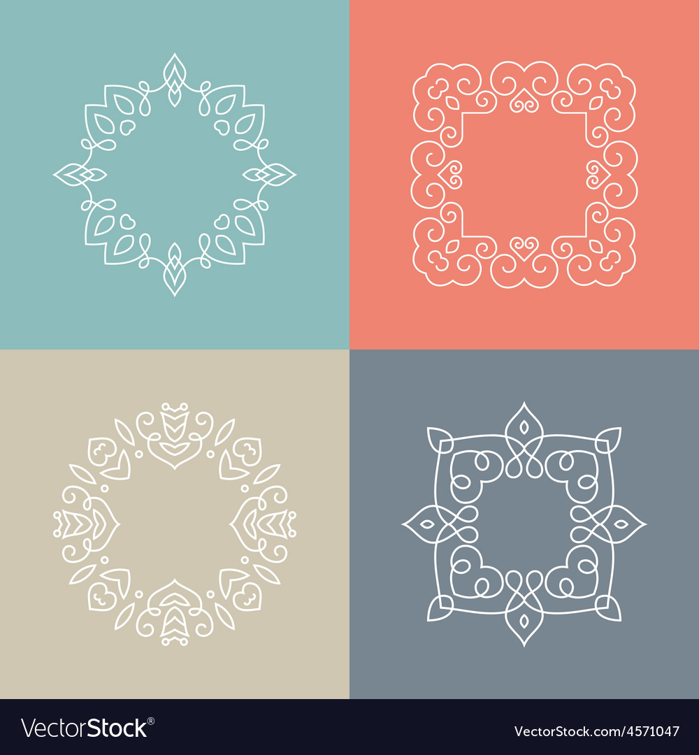 Monogram collection vector | Price: 1 Credit (USD $1)