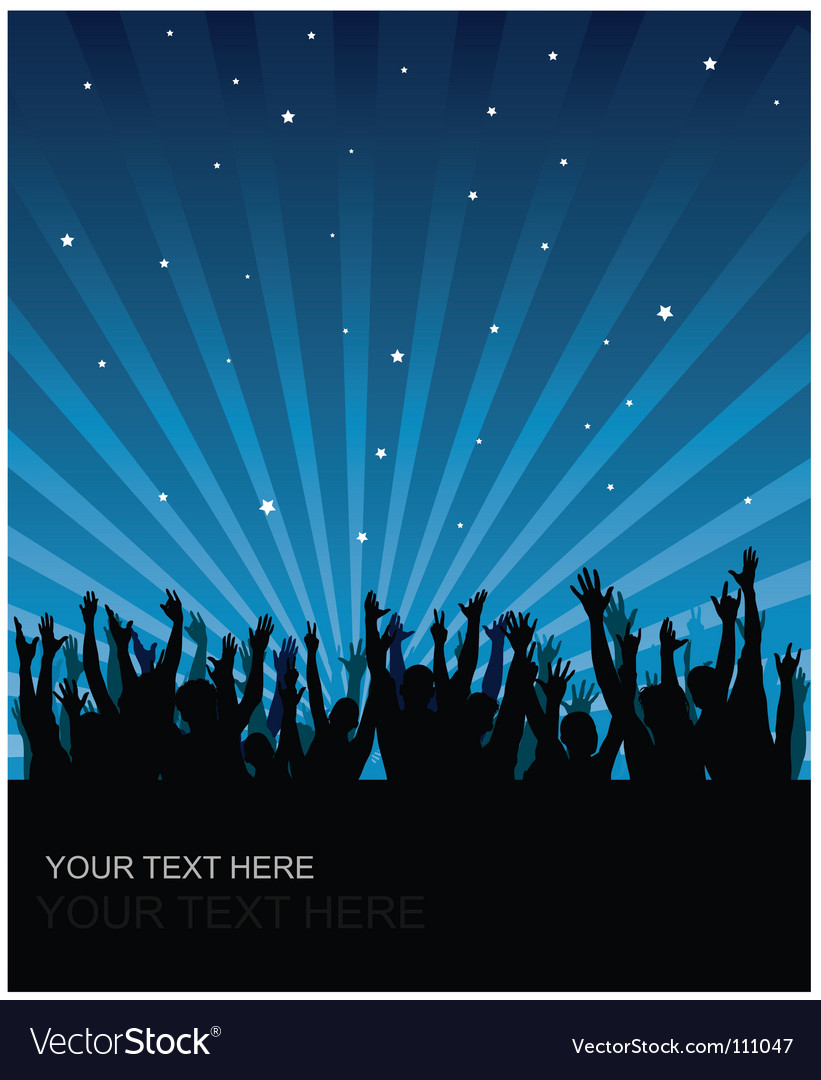 Party audience background vector | Price: 1 Credit (USD $1)