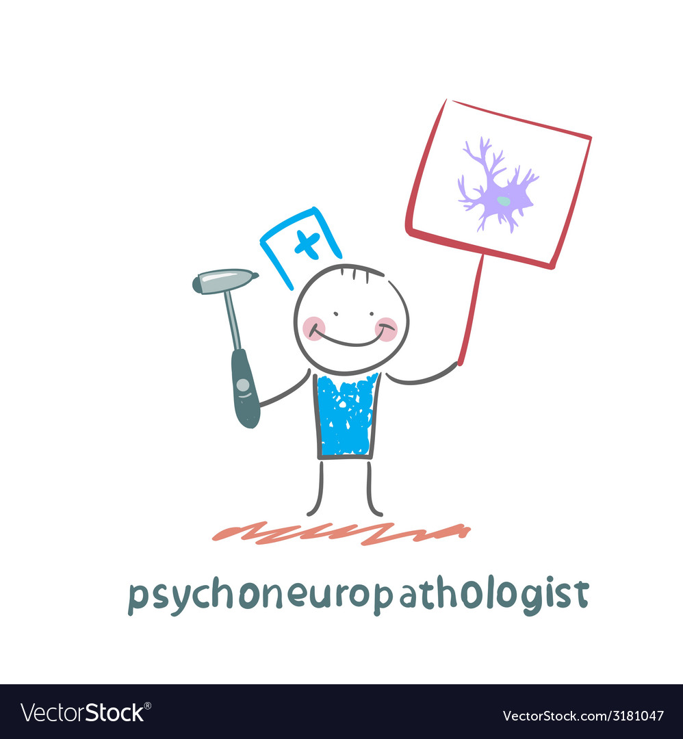 Psychoneuropathologist is drawn with a poster vector | Price: 1 Credit (USD $1)
