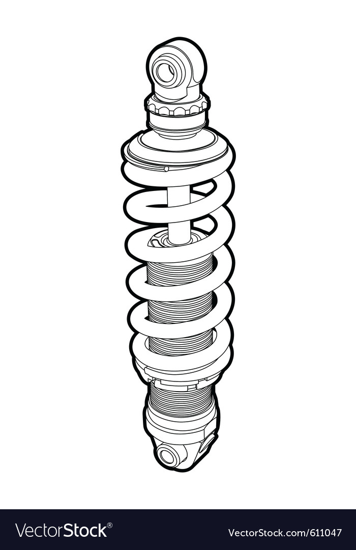 Shock-absorbers vector | Price: 1 Credit (USD $1)