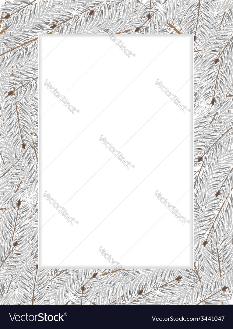 Snow covered fir tree branches vector | Price: 1 Credit (USD $1)