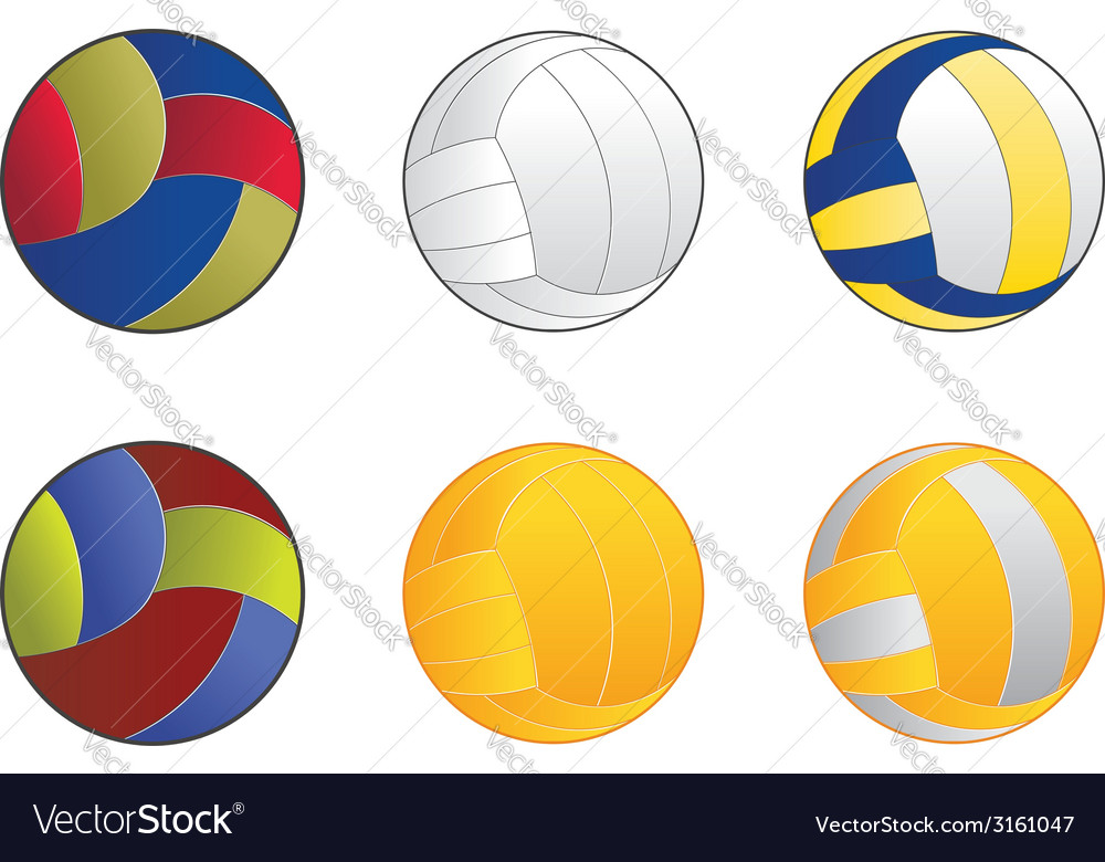 Volleyball balls vector | Price: 1 Credit (USD $1)