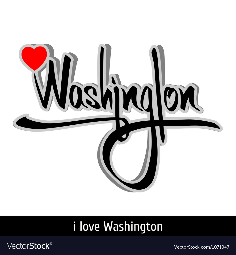 Washington greetings hand lettering calligraphy vector | Price: 1 Credit (USD $1)