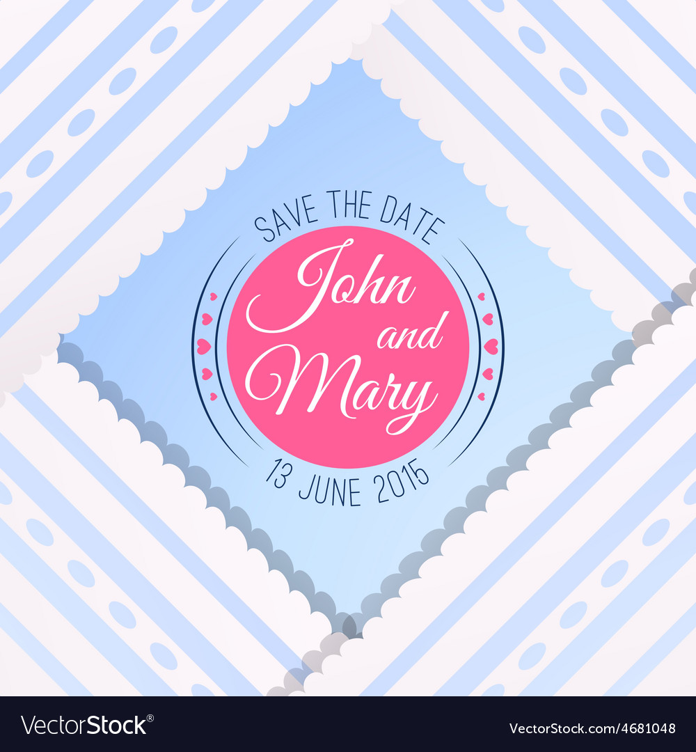 Blue background with vintage realistic pink blue vector | Price: 1 Credit (USD $1)