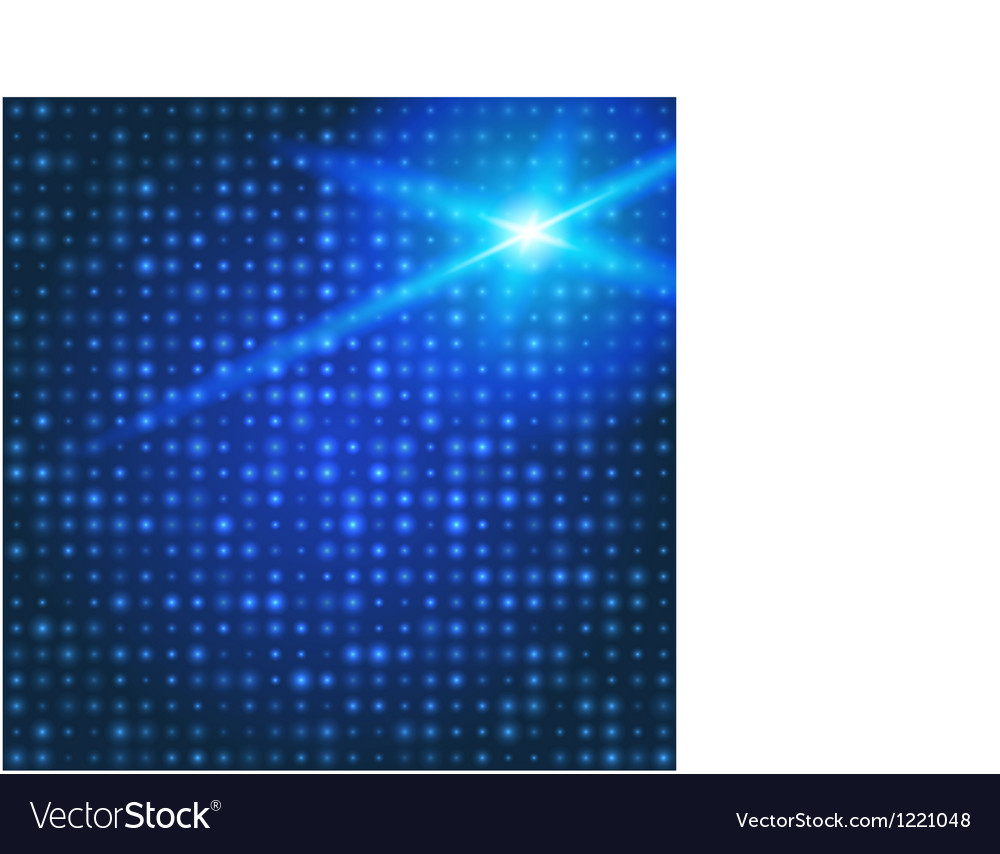 Blue technology background with particles vector | Price: 1 Credit (USD $1)