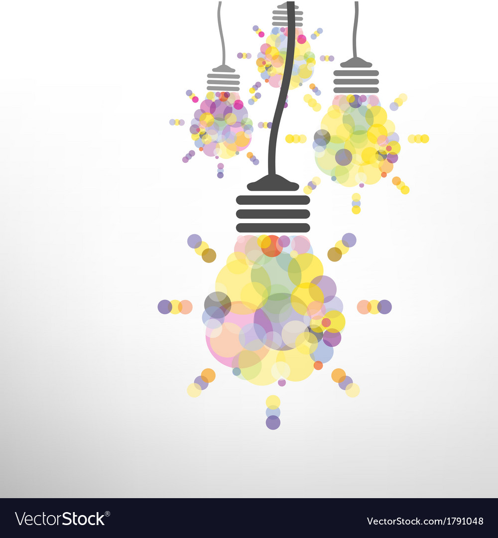 Creative light bulb idea vector | Price: 1 Credit (USD $1)