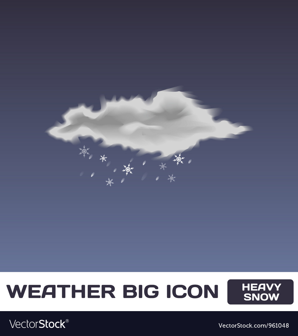 Heavy snow icon vector | Price: 1 Credit (USD $1)
