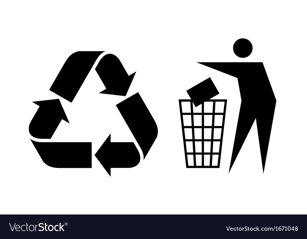 Litter and recycle sign vector | Price: 1 Credit (USD $1)