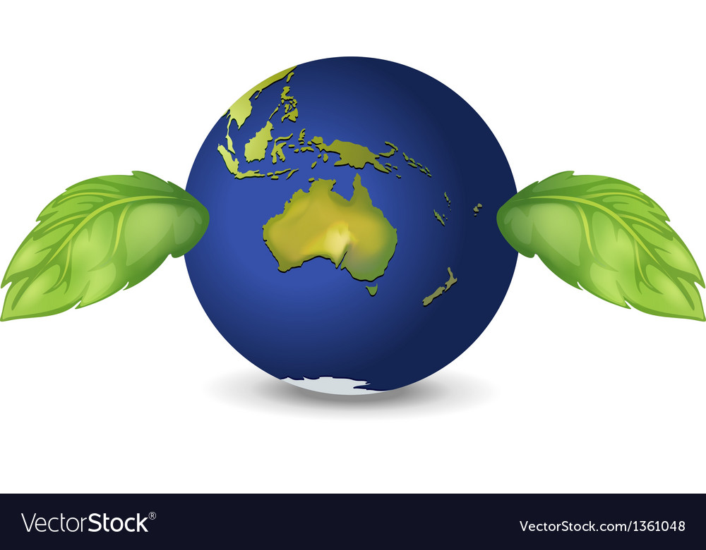 Planet green earth vector | Price: 1 Credit (USD $1)