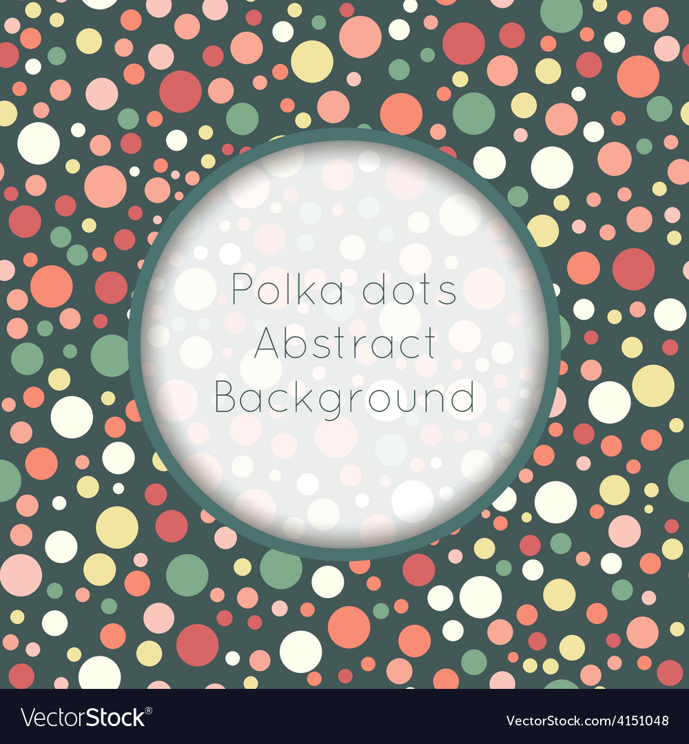 Seamless pattern stylish colorful vintage polka vector | Price: 1 Credit (USD $1)
