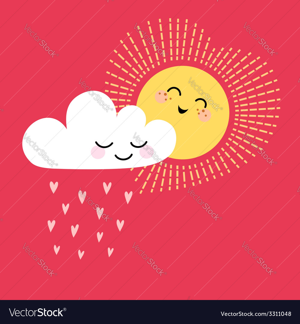 Sun and cloud vector   Price: 1 Credit (USD $1)