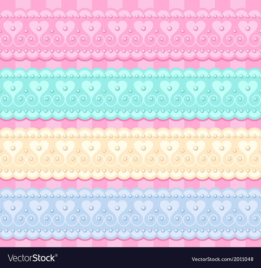 Wedding set of lacy ribbons vector | Price: 1 Credit (USD $1)
