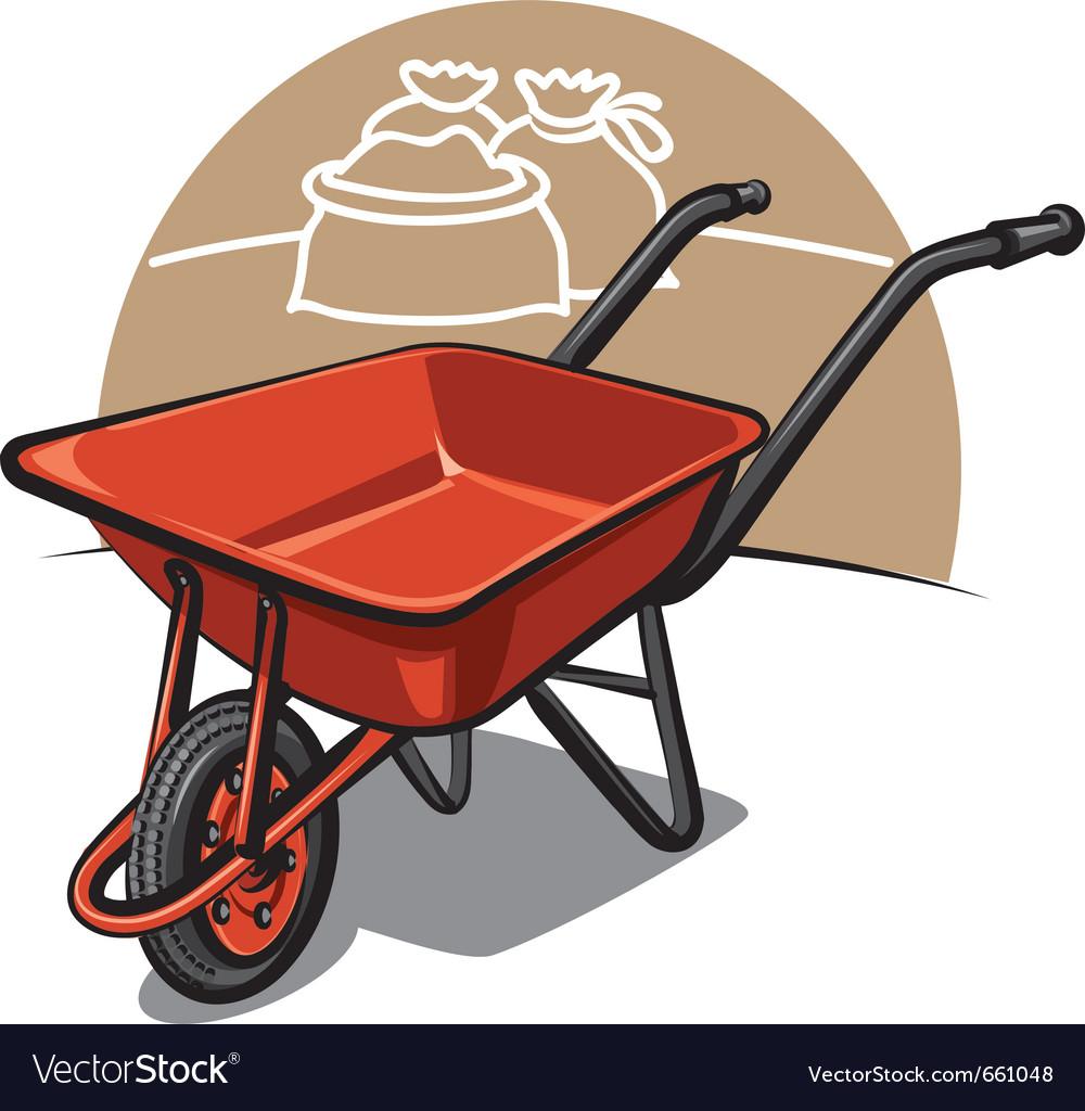 Wheelbarrow vector | Price: 3 Credit (USD $3)