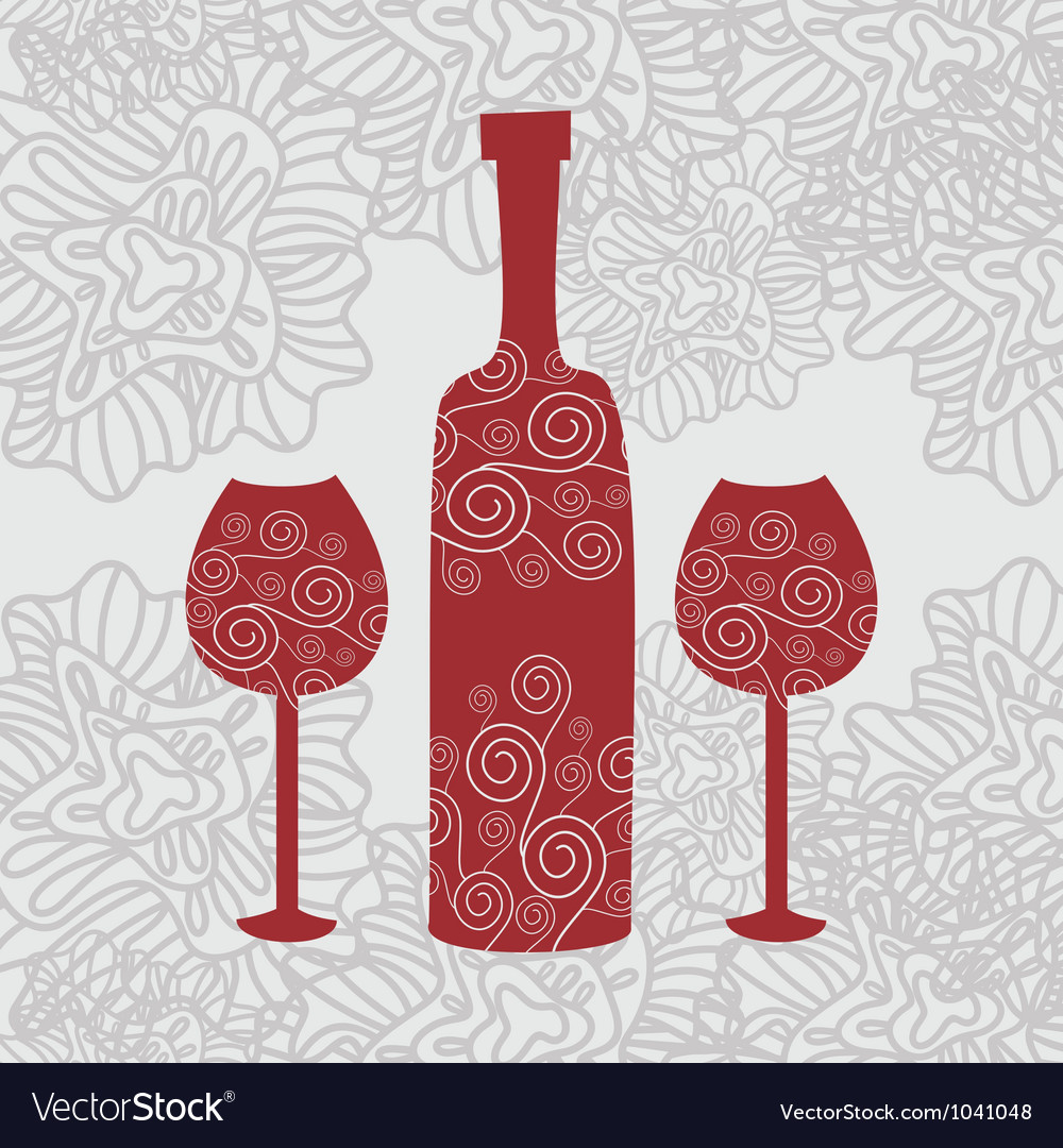 Wine floral background vector | Price: 1 Credit (USD $1)
