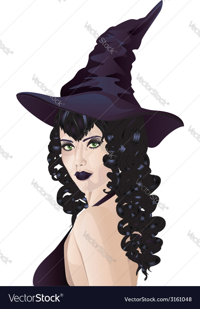Witch with black hair2 vector   Price: 1 Credit (USD $1)