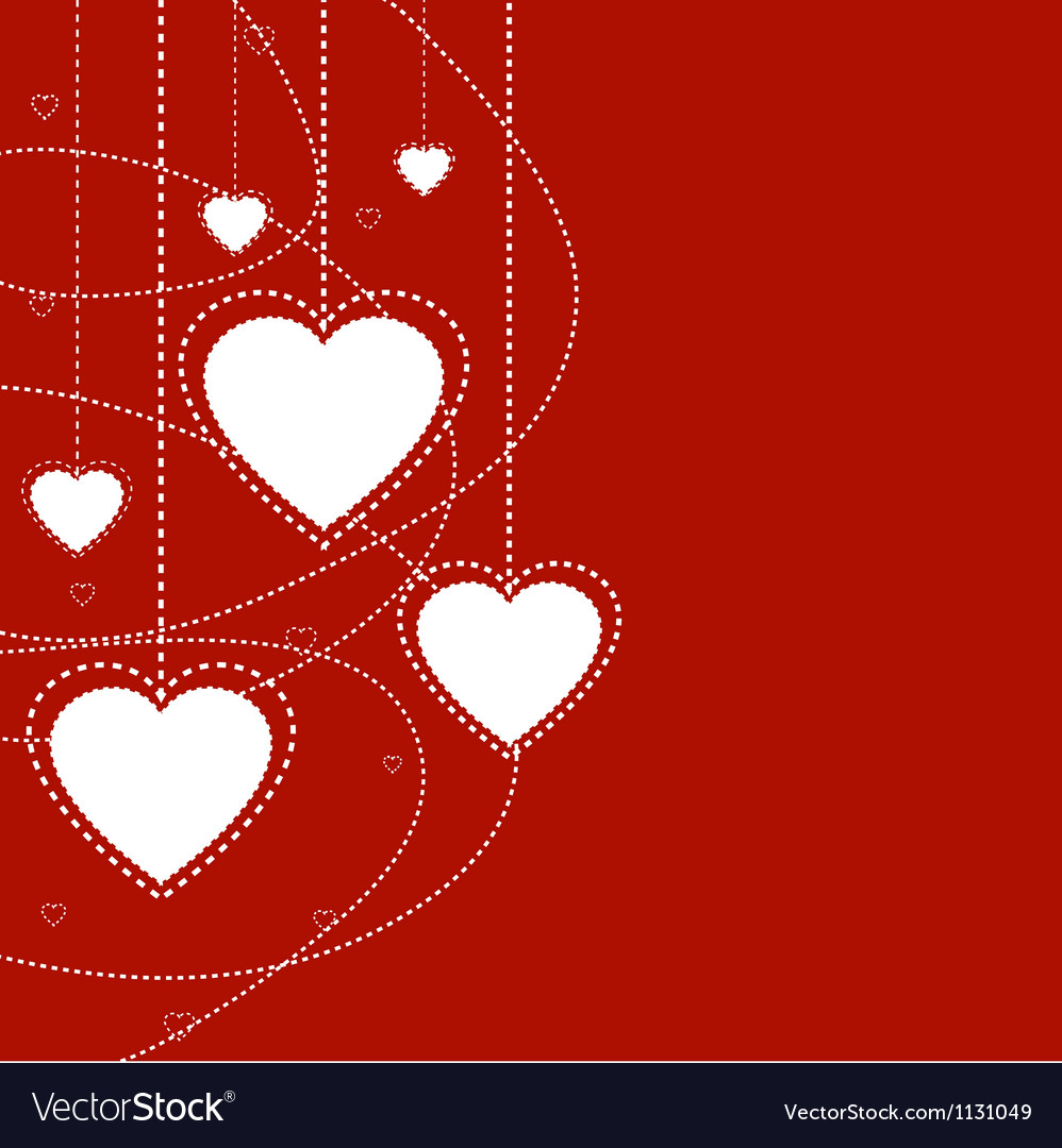 Abstract holiday background with hearts vector | Price: 1 Credit (USD $1)