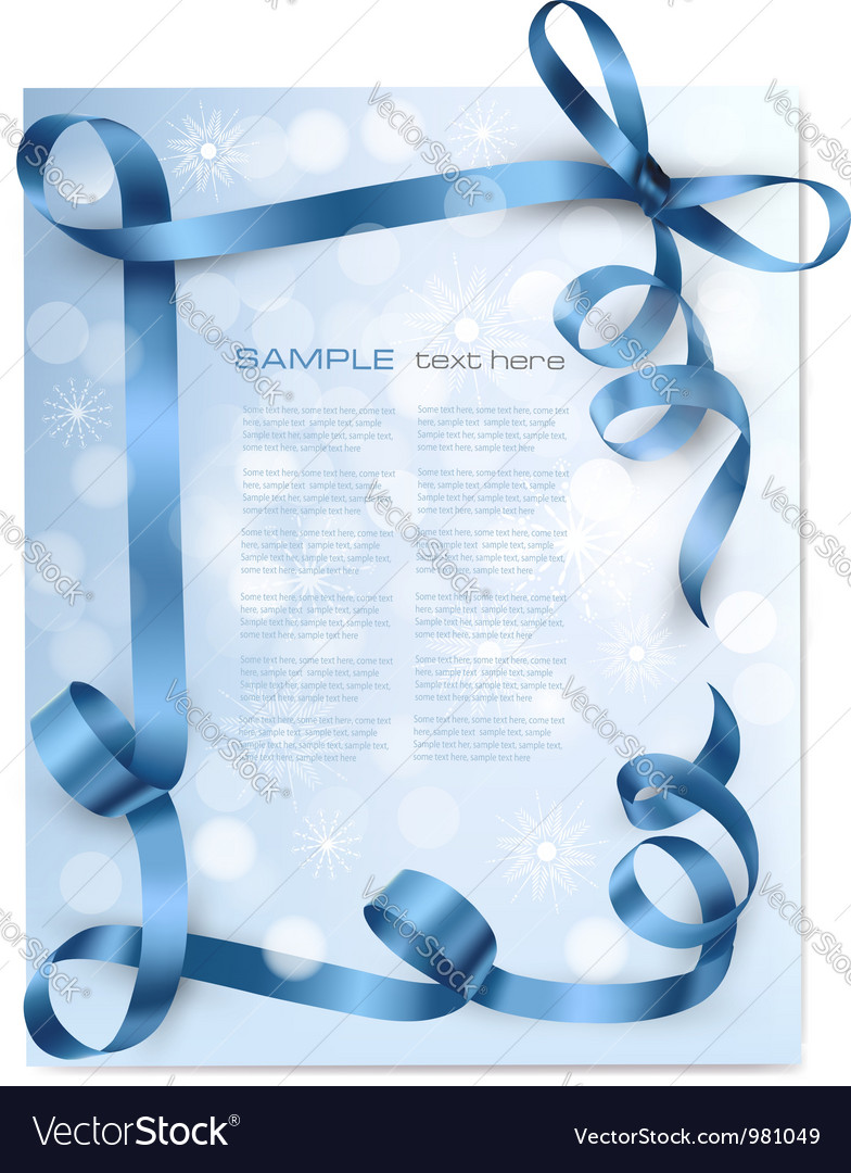 Christmas background with blue bows vector | Price: 1 Credit (USD $1)