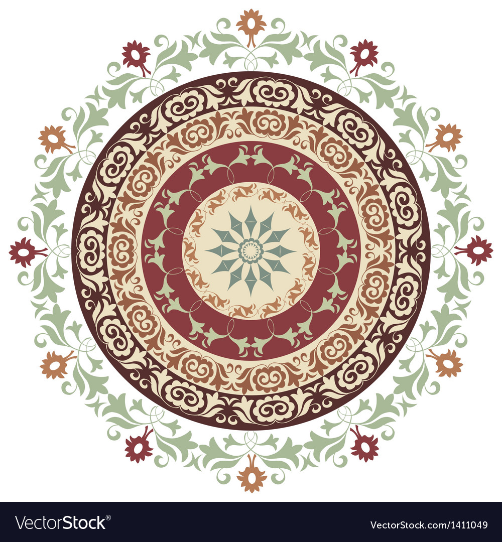 Circle ornament version vector | Price: 1 Credit (USD $1)