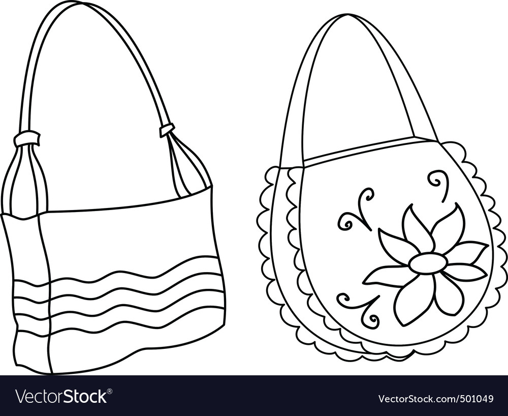 Female handbags contours vector | Price: 1 Credit (USD $1)