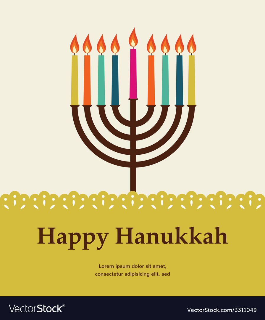 Happy hanukkah jewish holiday vector | Price: 1 Credit (USD $1)